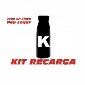 Para Hp color LaserJet cp1025 una botella con 4 recargas de tóner negro + 4 chips.