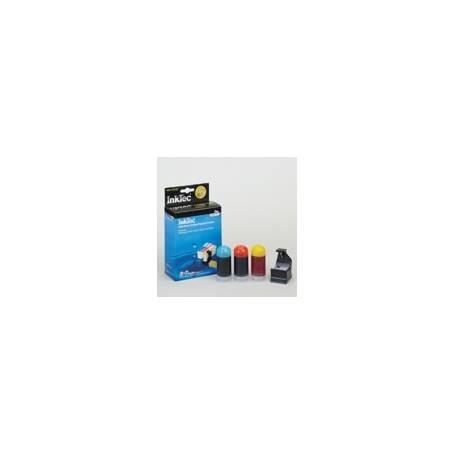 Mini Kit de Recarga Inktec cartuchos HP 364 cian, magenta, amarillo, 20ml x 3