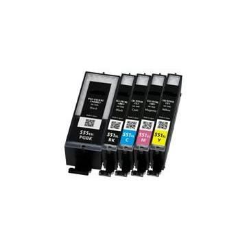 PGI-550XLBK negro 22ml compatible para Canon Pixma ip7250 mg5450 mg6350
