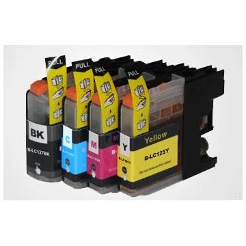 LC125XLY Brother amarillo 16ml compatible para dcp j4110w mfc j4410 j4510 j4610 j4710d