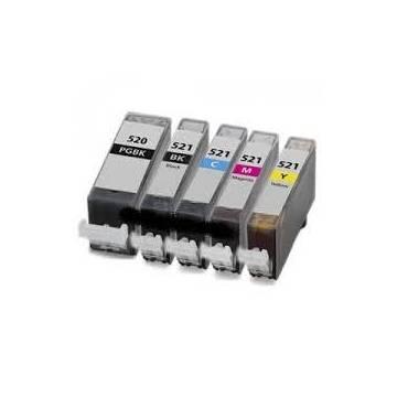 CLI-521BK Negro 10ml para Canon ip3600 ip4600 mp540 mp620 630
