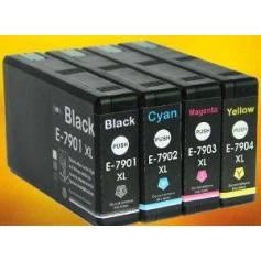 79XL 42ml negro compatible wf4630 4640 5110 5190 5620 5690 2.6k
