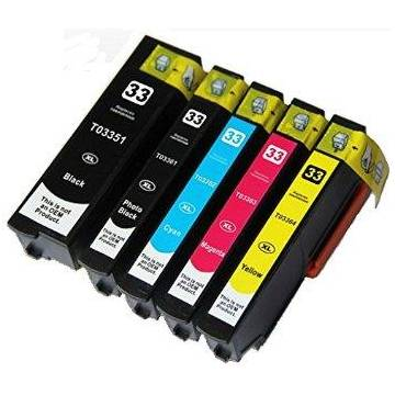 33XL negro 28ml compatible para Epson xp530 xp630 xp635 xp830