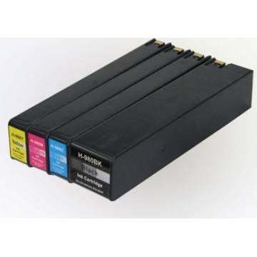 HP 980XLBK 250ml negro compatible Hp x555dn x555xh x585f x585z 10k d8j10a