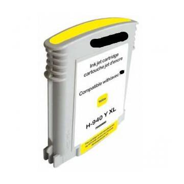 HP 940XLY amarillo 28ml reciclado para Hp officejet pro 8000w pro 8500w.c4909ae